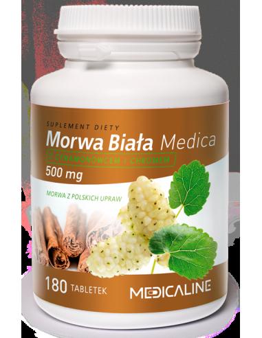 Morwa Biała Medica 500mg 180 tab.